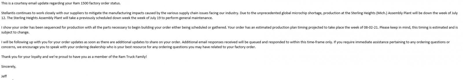 Email from Jeff at RAM confirming D1 for week of 08022021.JPG